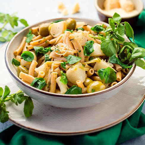 Watercress & Olive Pasta