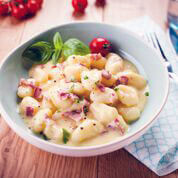 Carbonara and Cream Gnocchi