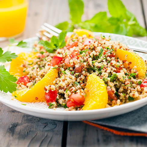 Three Quinoa & Orange Tabouleh