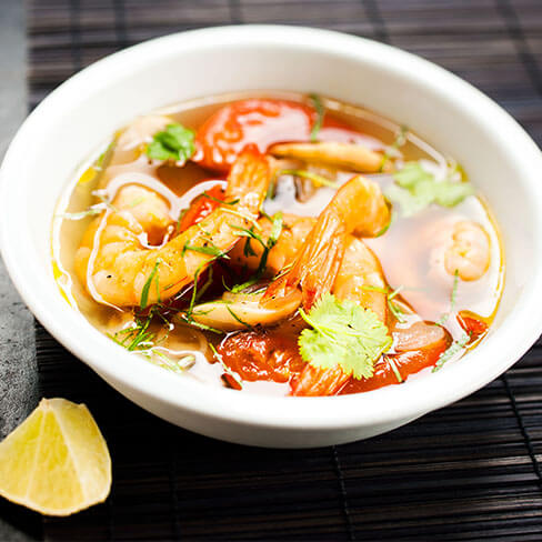 Tom Yam Soup with Shrimp