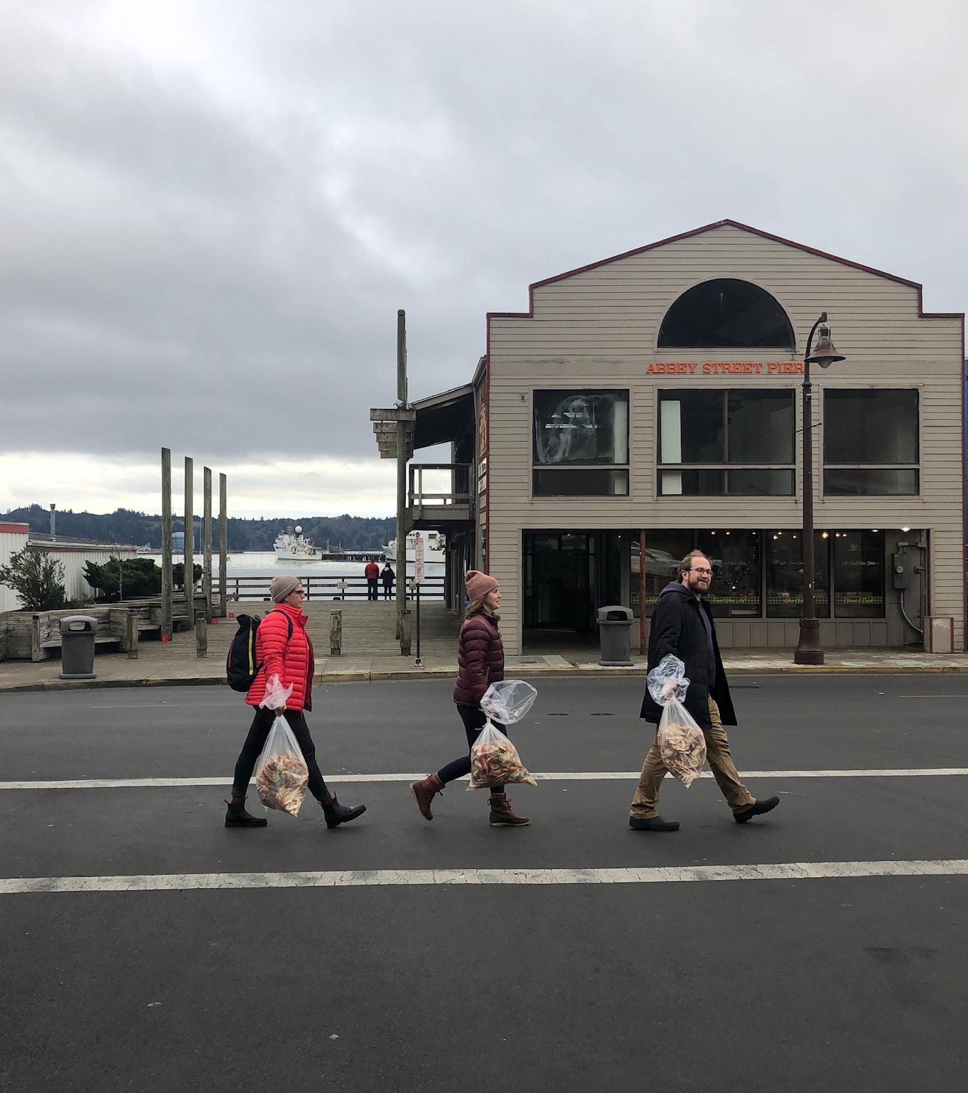 People walking outside