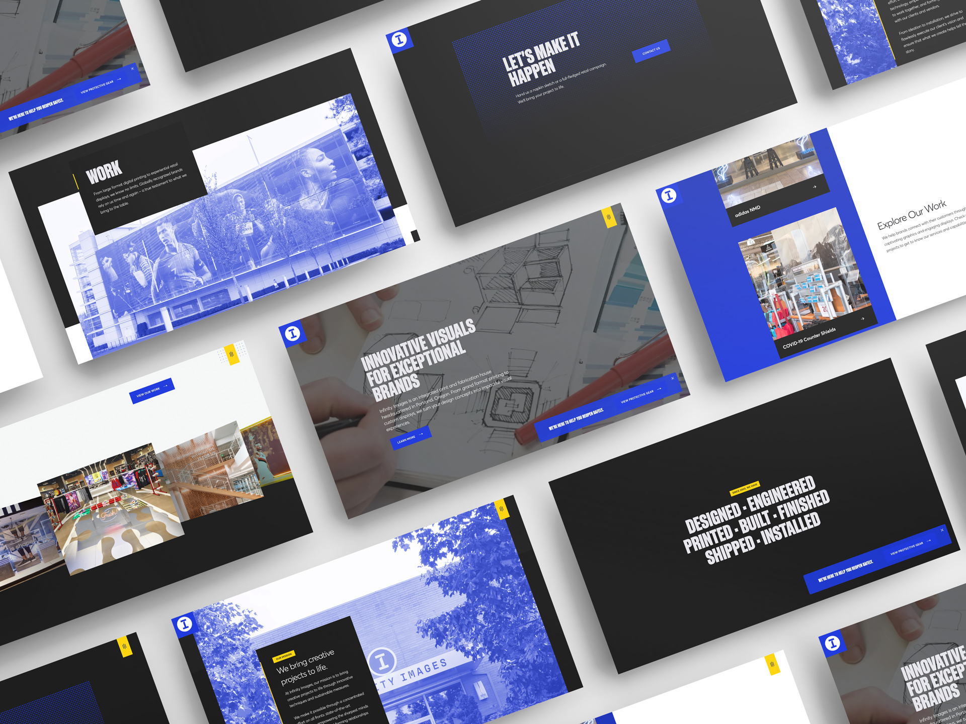 Web design project showcase