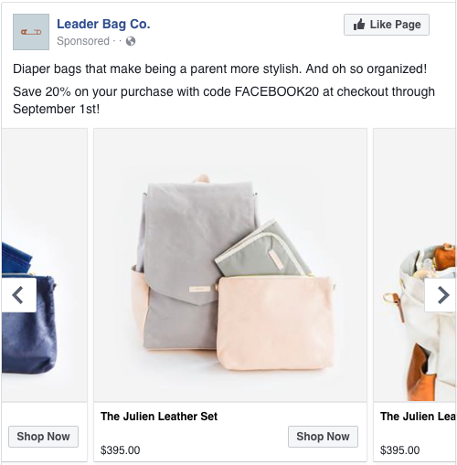 Leader Bag Co. dynamic product ad