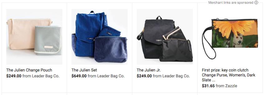 Leader Bag Co. in Google Shopping