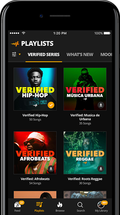 Audiomack streaming and discovery platform that allows artists to share their music and fans to discover new artists, songs and albums.