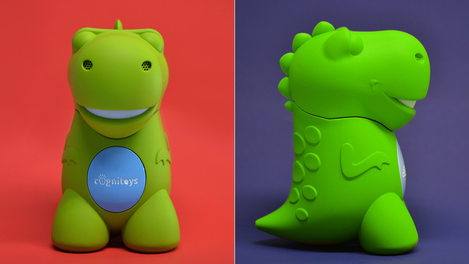The original CogniToys dino prototype used as part of the brand Kickstarter campaign.