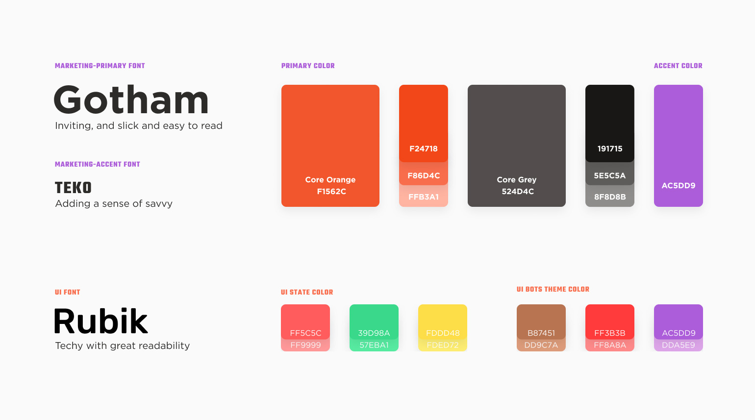 The Cookout color palette and typography system.