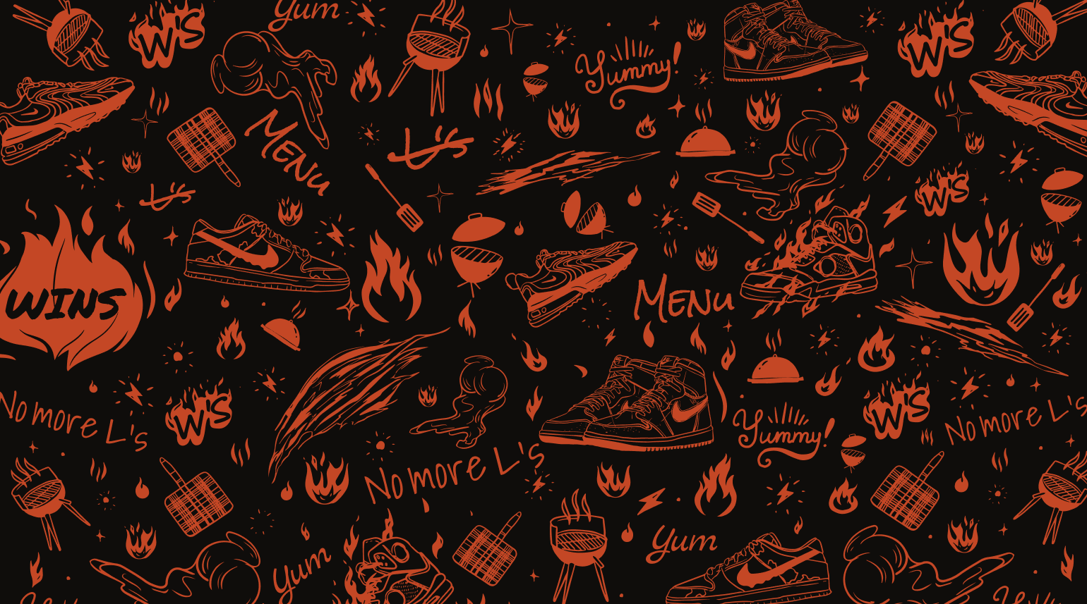Custom illustrated platform designed for The Cookout brand.