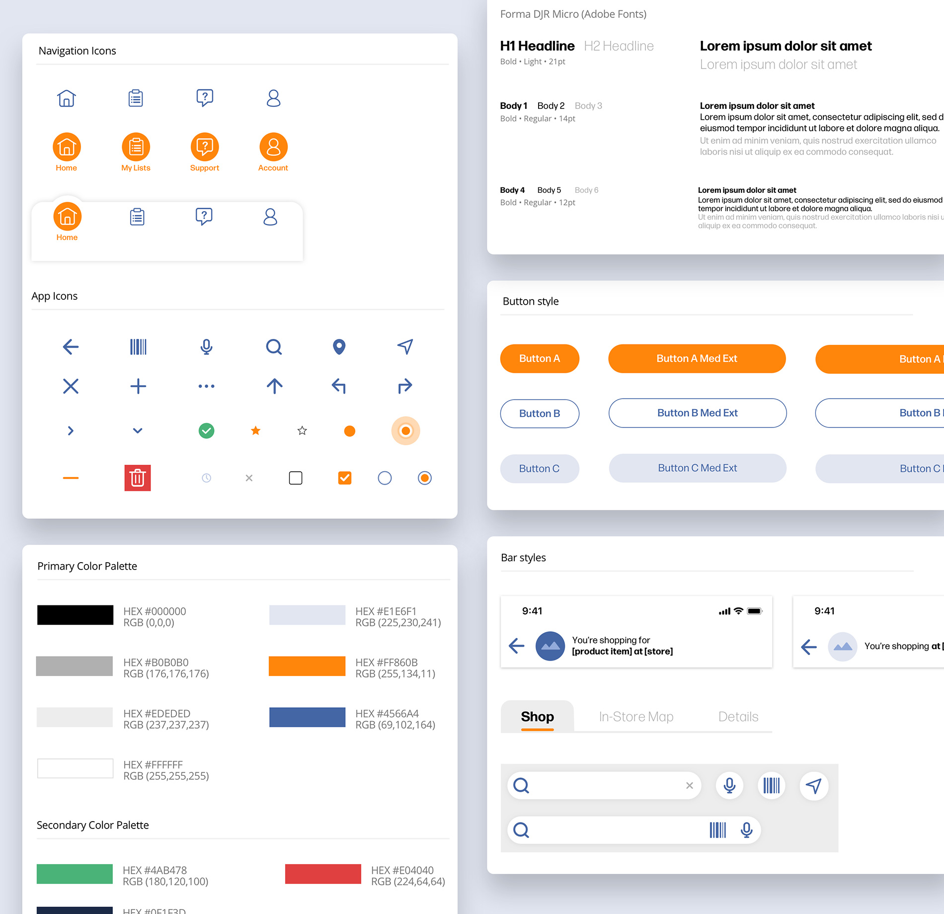 UI components from the scalable  design system developed for RPS.