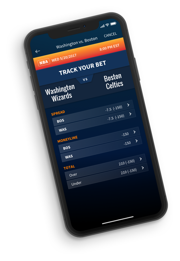 Main user interface for the HEATR sports betting tracking app.
