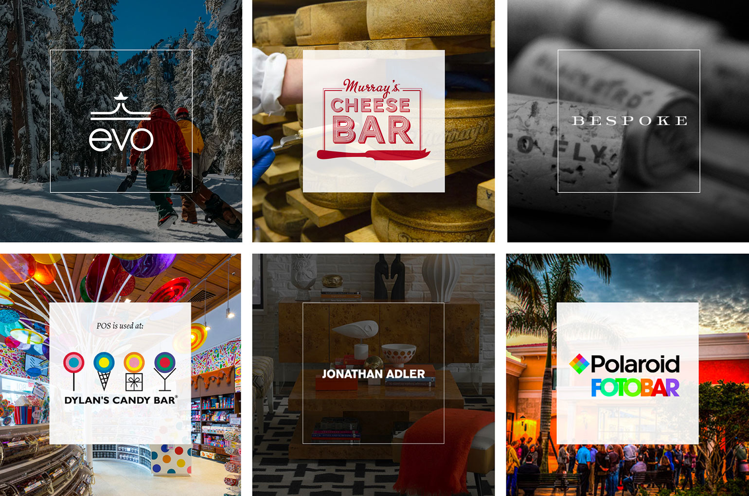 Grid of brand logos who have deployed the SuitePOS systems in their stores.