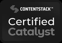 Content Stack Certified Catalyst badge