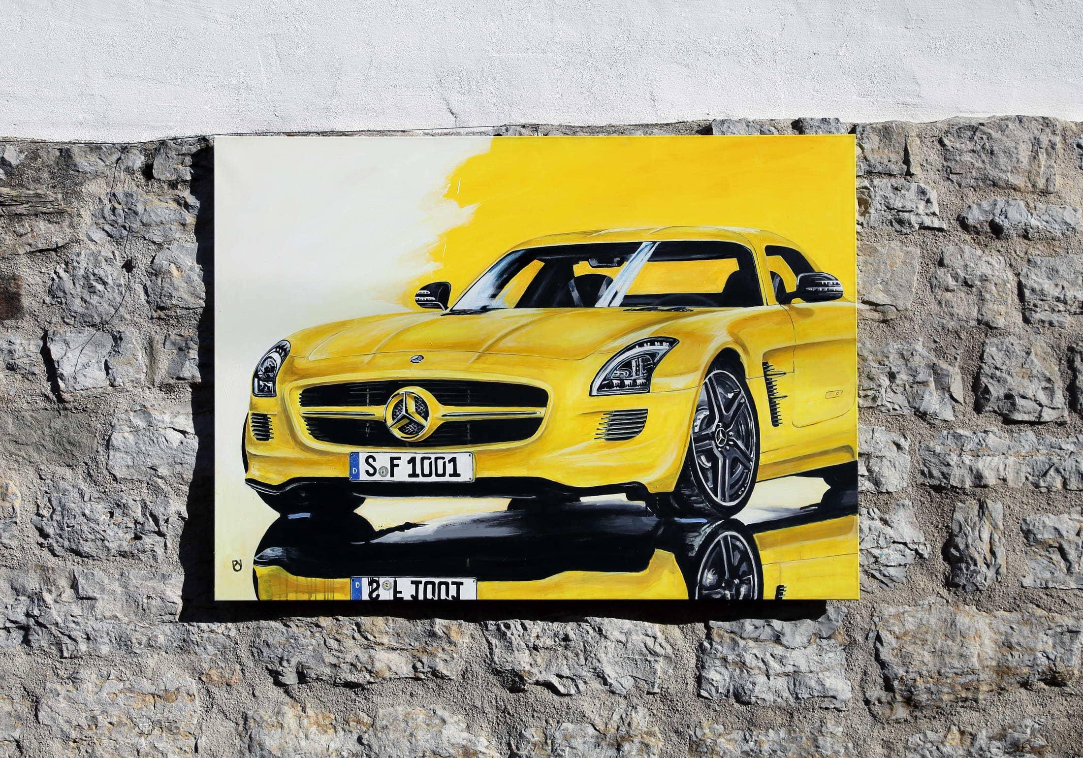 in progress: Daimler AMG SLS gelb
