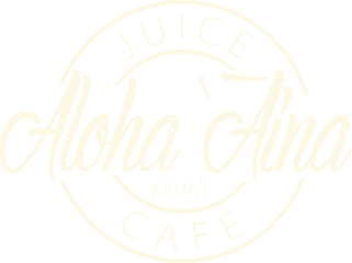 Aloha Aina Juice White Logo