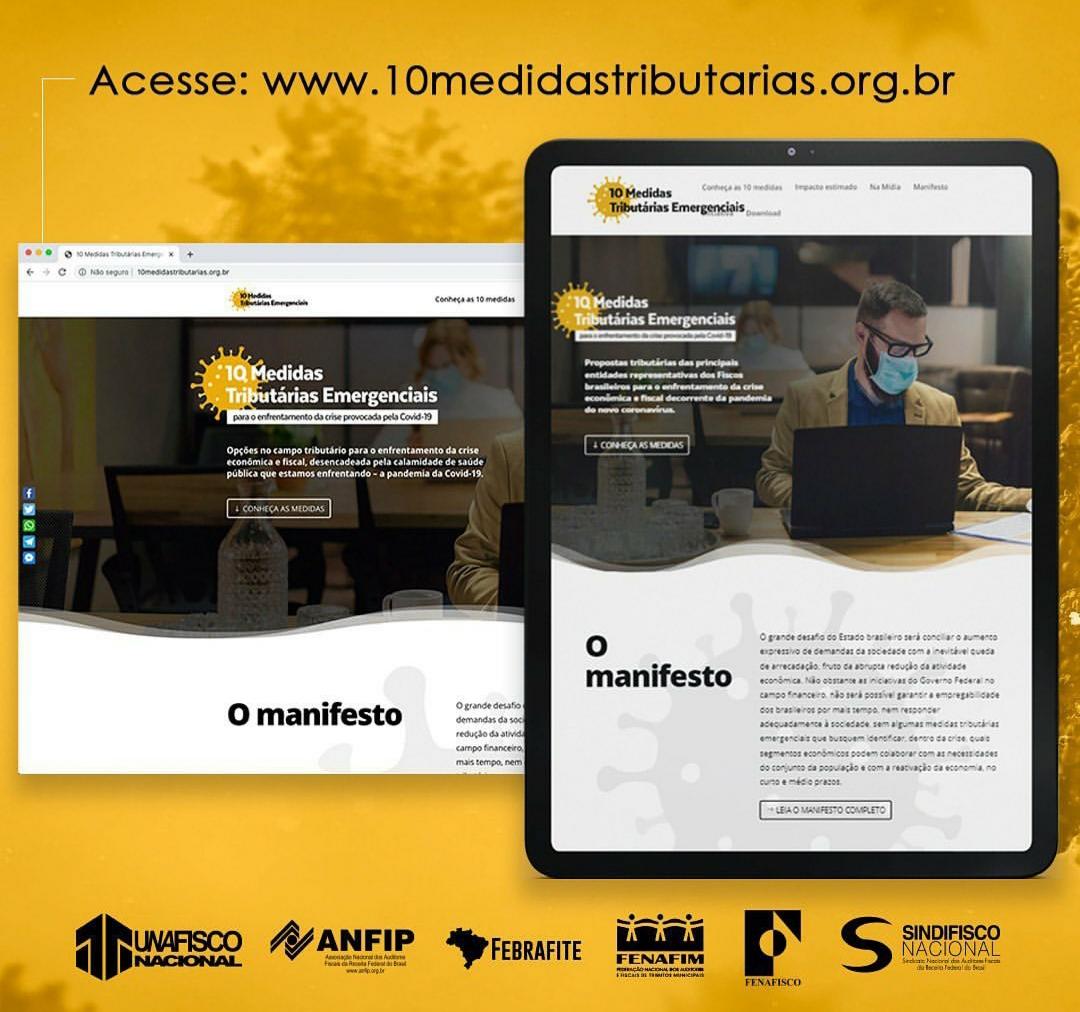 Entidades do Fisco lançam site para promover propostas tributárias de enfrentamento à crise