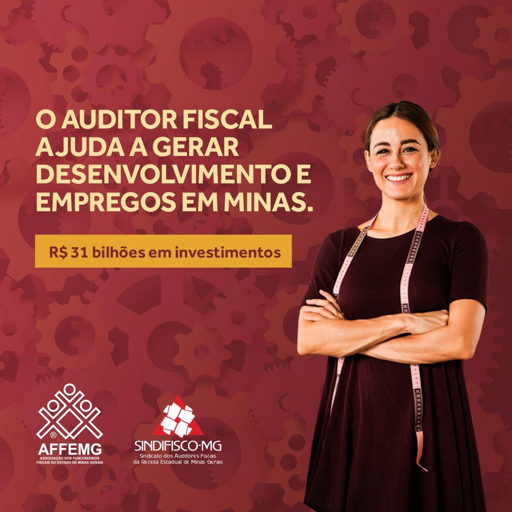 Campanha da AFFEMG e do Sindifisco-MG pela valorização do trabalho do auditor fiscal