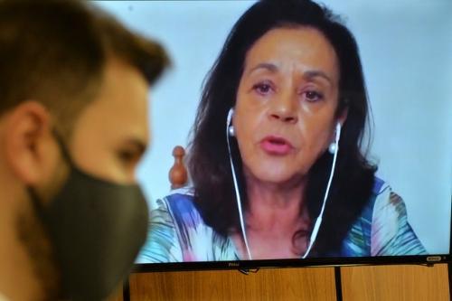 Maria Aparecida, da Affemg, criticou o caráter machista da reforma, que aumenta em sete anos a aposentadoria das mulheres - Foto:Willian Dias