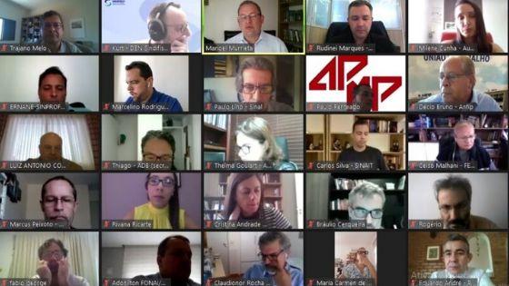 REUNIÃO AMPLIADA: Fonacate e Frentas articulam enfrentamento à proposta de Reforma Administrativa