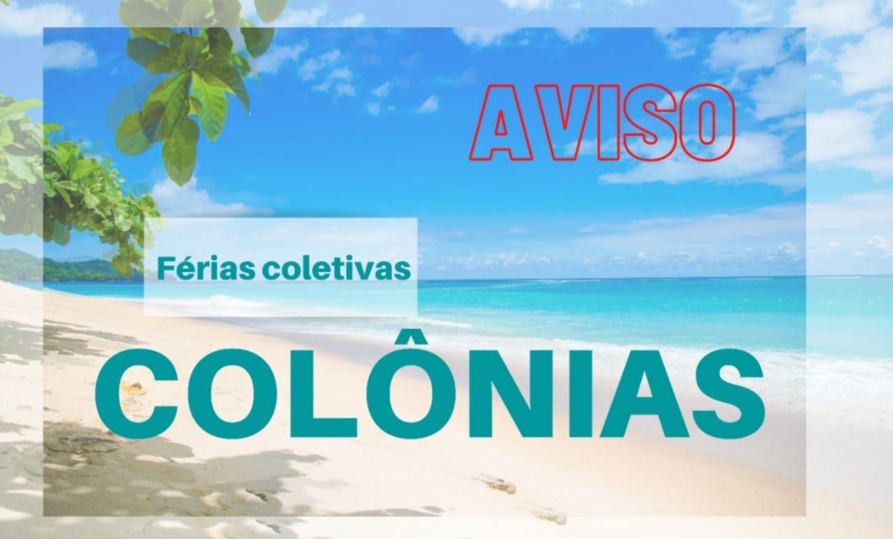Funcionamento das Colônias: comunicado de férias coletivas AFFEMG