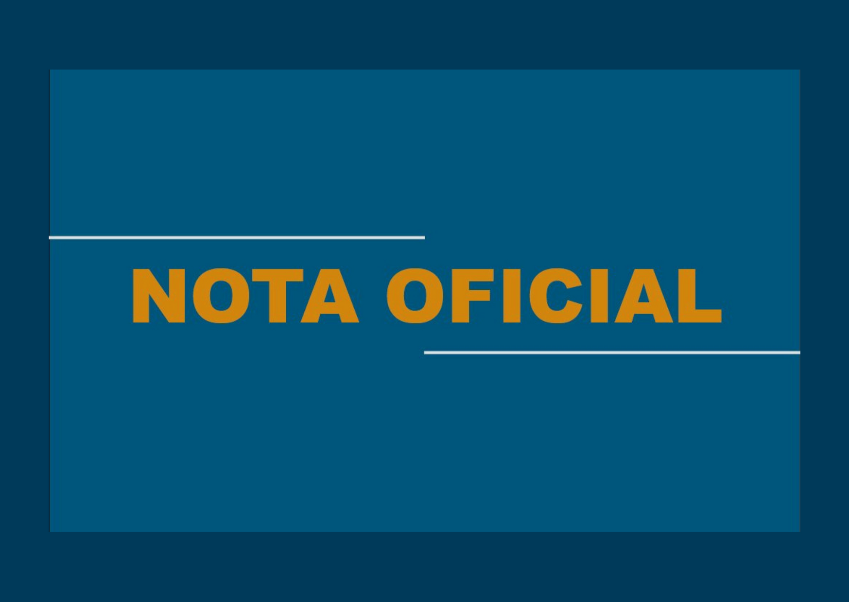 NOTA OFICIAL - CONCURSO PÚBLICO