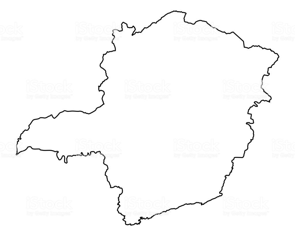 Contorno do mapa de Minas Gerais