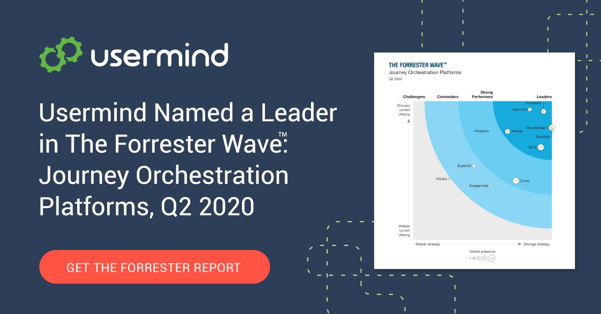Usermind Named a Leader in The Forrester Wave™: Journey Orchestration Platforms, Q2 2020