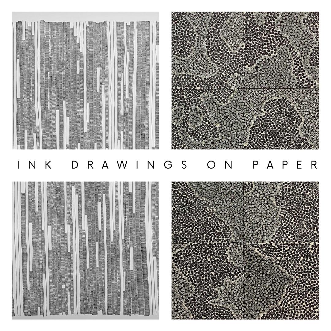 Ink Drawings on Paper