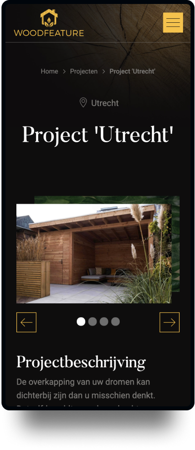 Studio Flabbergasted Portfolio - Screenshot Projecten Mobiel Woodfeature