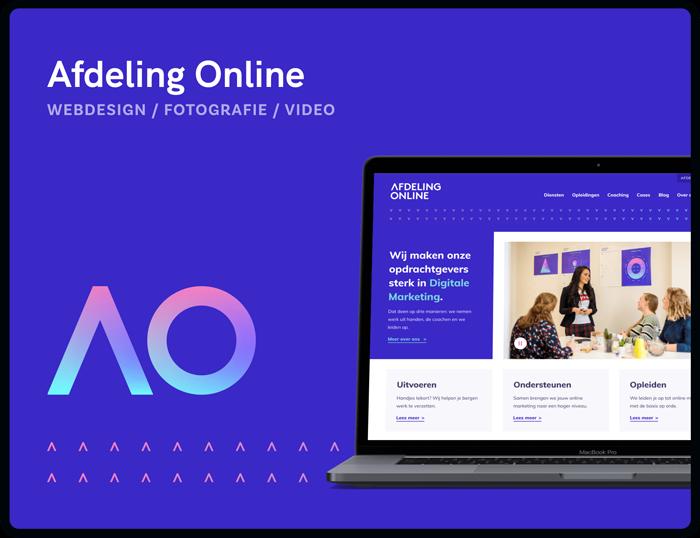 Screenshot van homepage Afdeling Online | Studio Flabbergasted