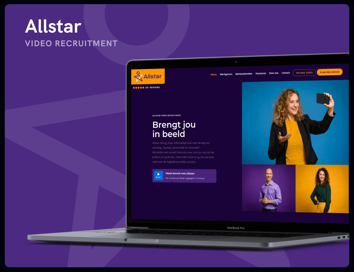 Website Allstar Recruitment door Studio Flabbergasted
