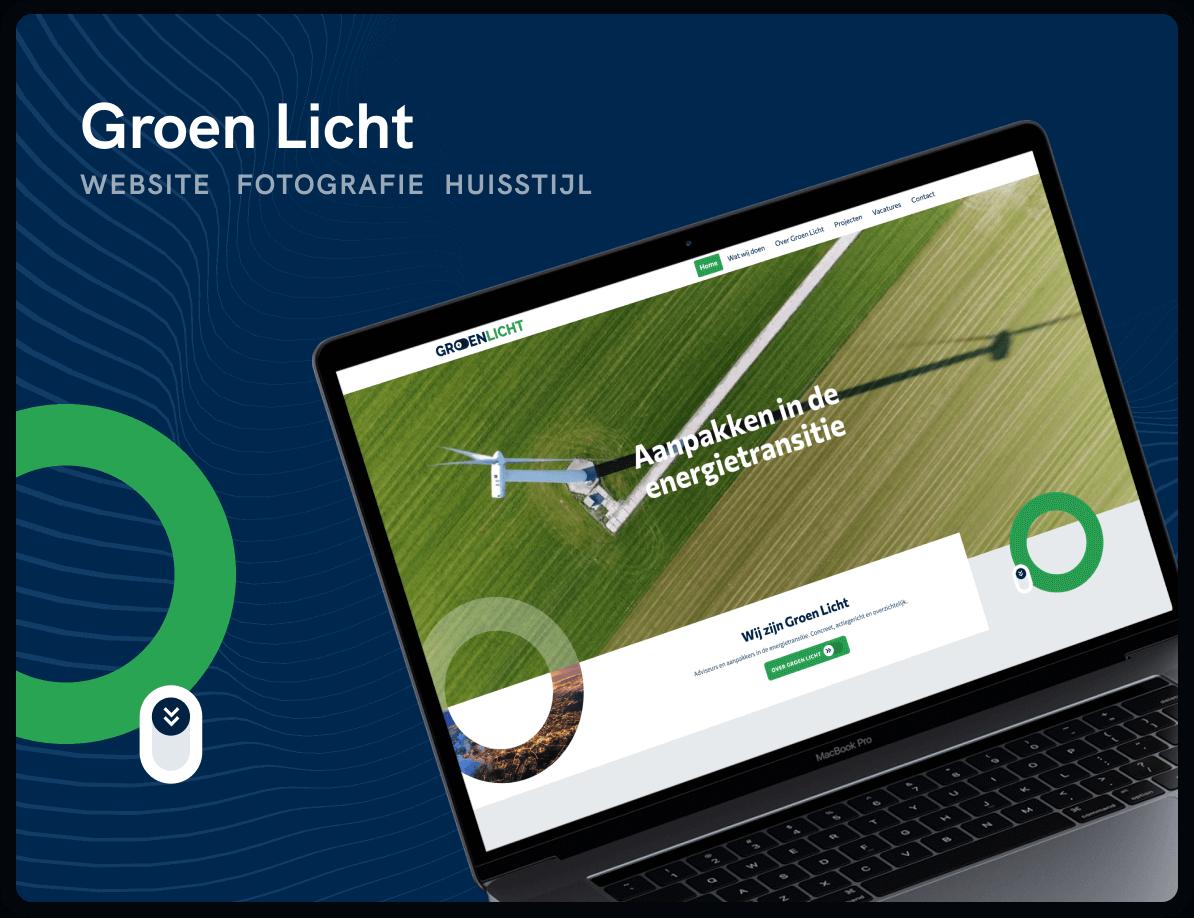 Website voor Groen Licht door Studio Flabbergasted