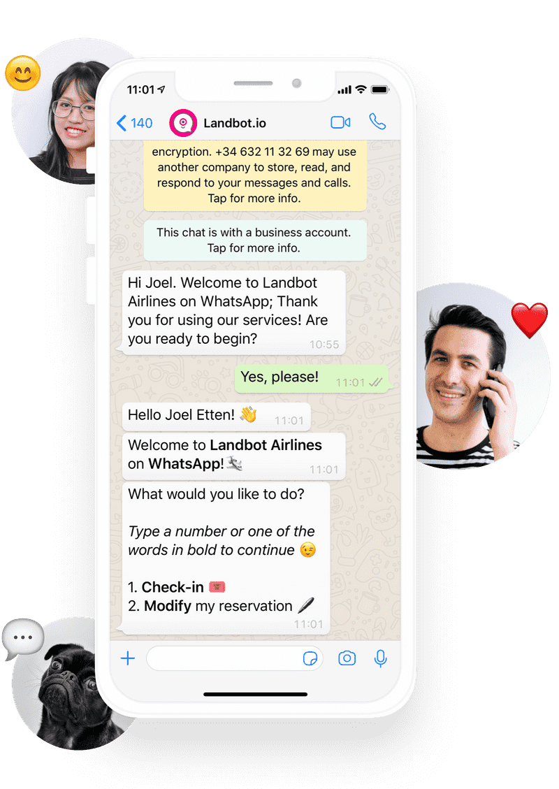 WhatsApp Business API integration chatbot