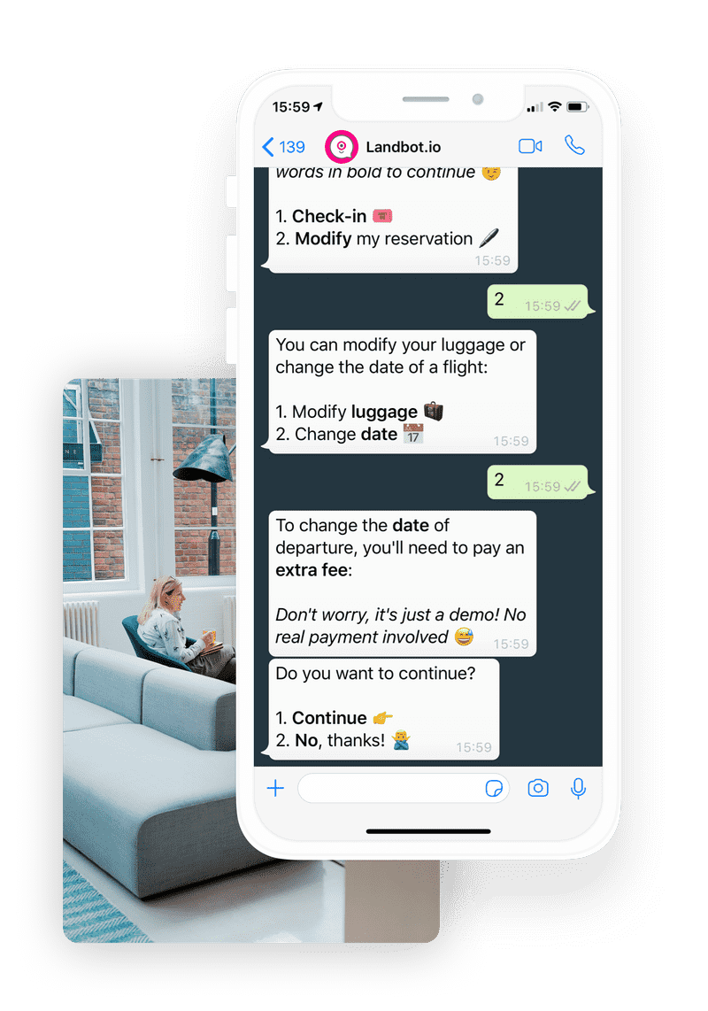 Landbot WhatsApp bot solution for business