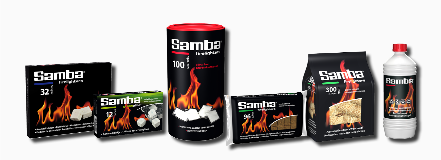 Wide Range of Firelighters from The Flame Group LTD