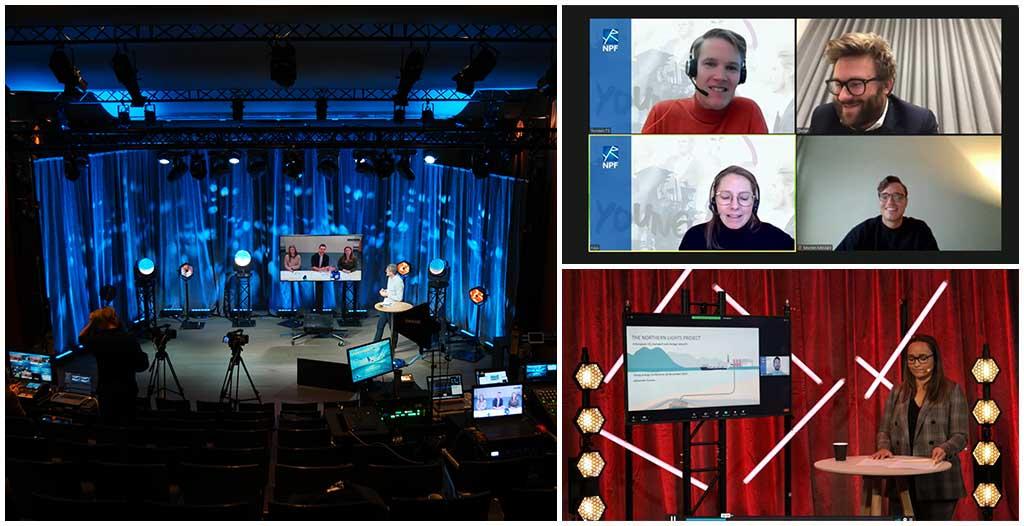 Bilder av studio og streamingløsninger