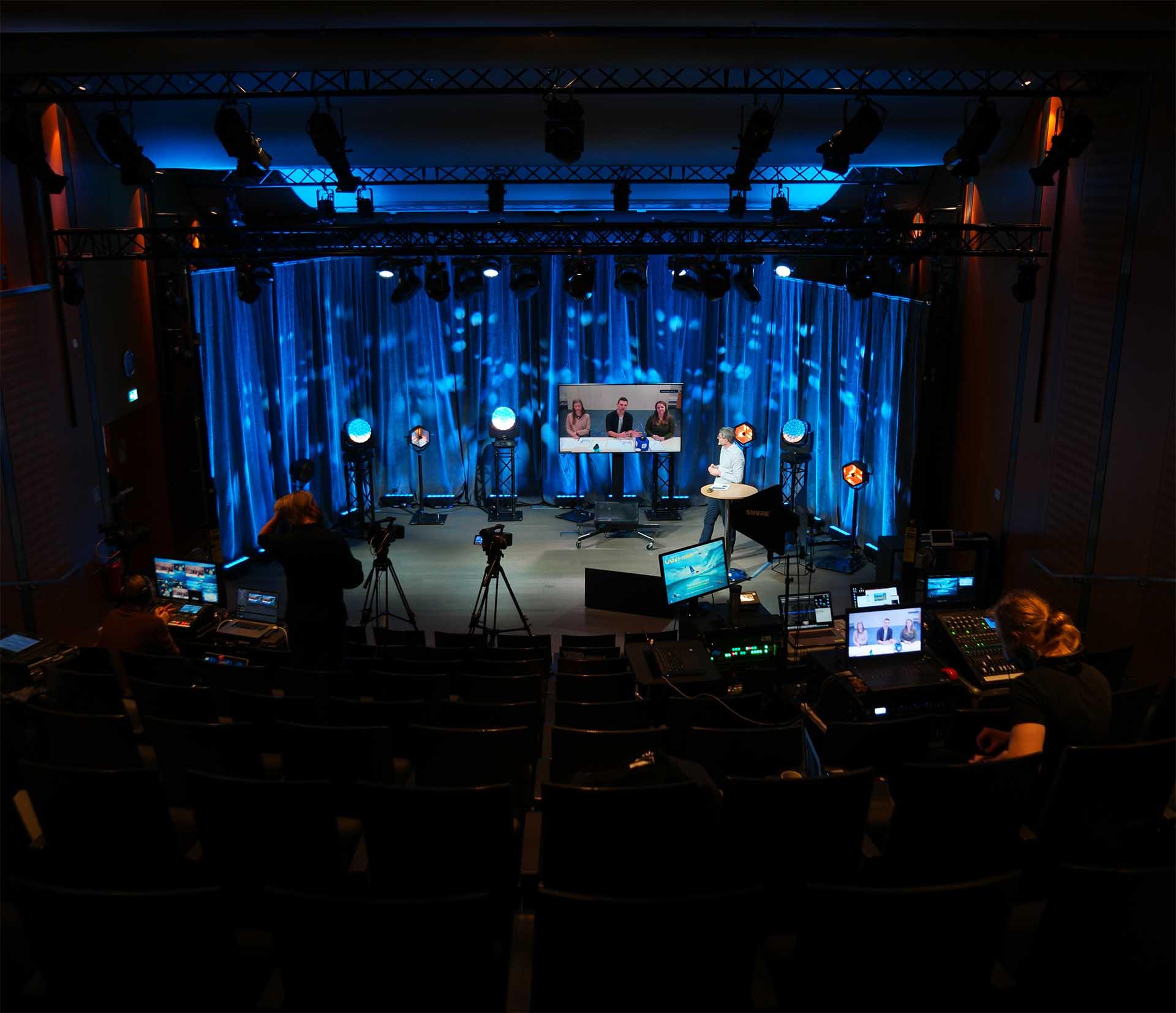 Bilde av streamingstudio under OG21-forum