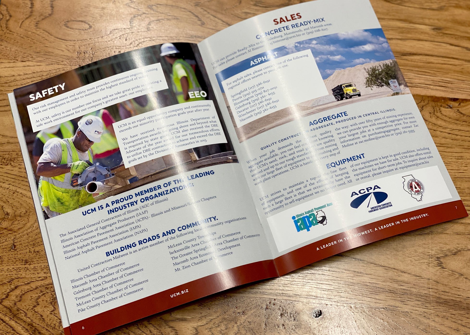United Contractors Midwest printed brochure