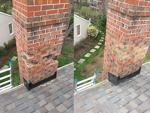 brick replacement before and after