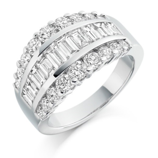 big diamond effect engagement and eternity rings