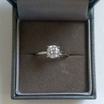fake diamond engagement ring from top