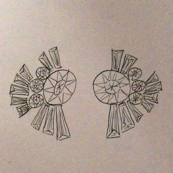 Earring concept sketch