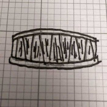 Tapered baguette diamond ring sketch