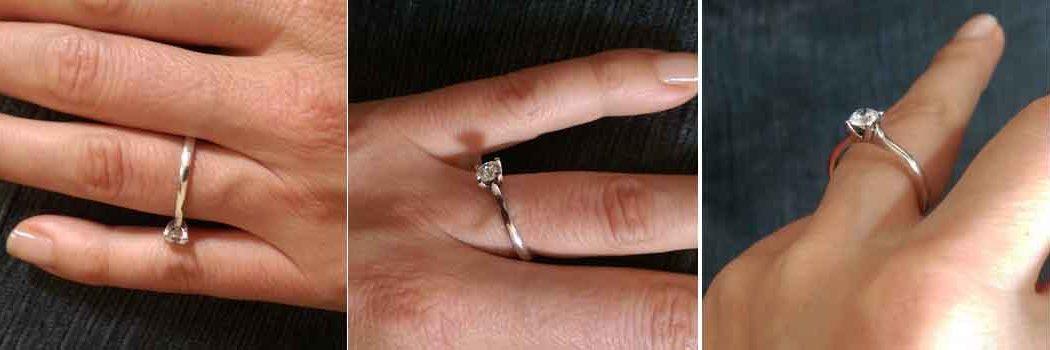 images of ring slipping on finger