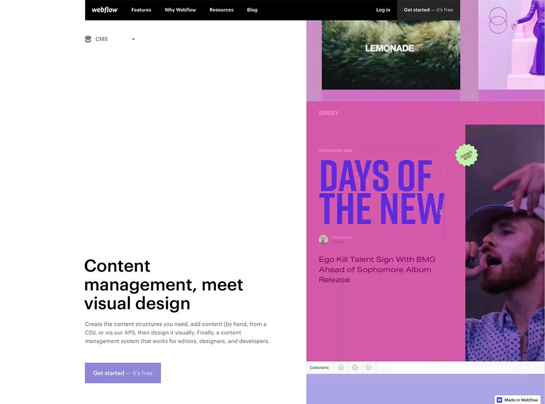 Webflow Content management photo