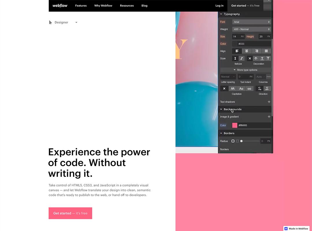 Webflow Designer photo