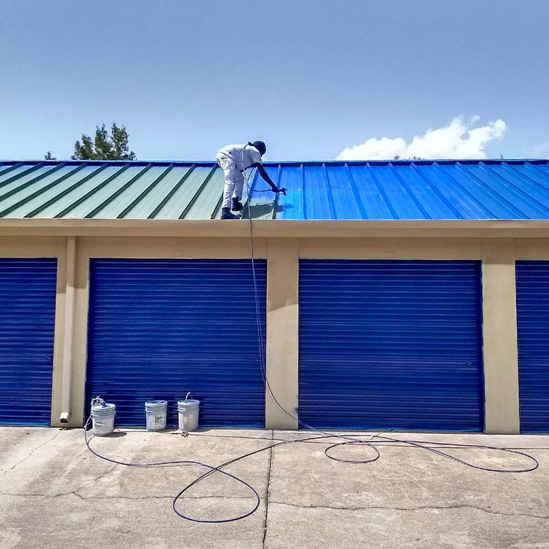 Full Exterior Paint Service for a 64,000 sq ft Life Storage Facility