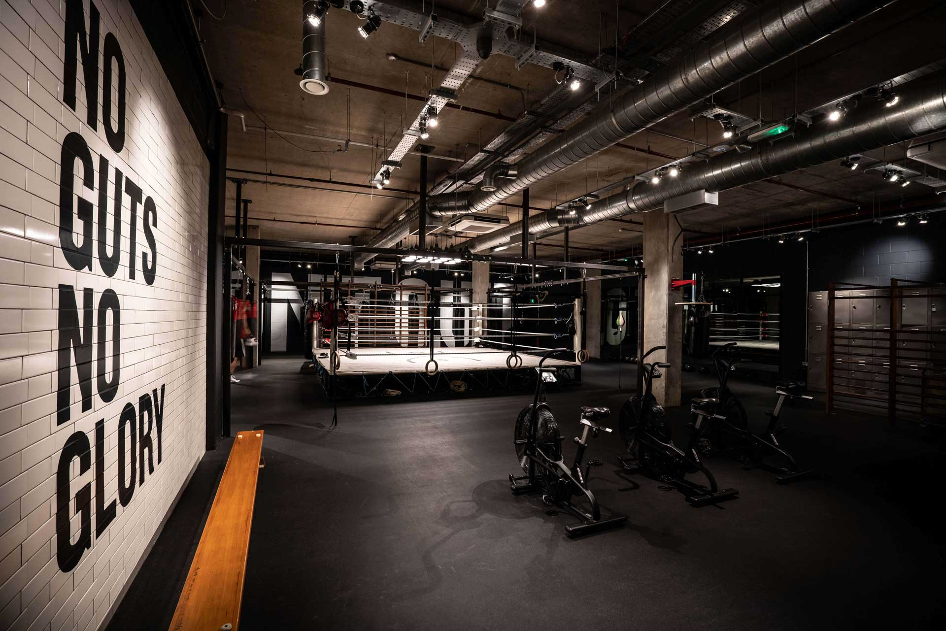 photo of the 12x3 boxing gym ring