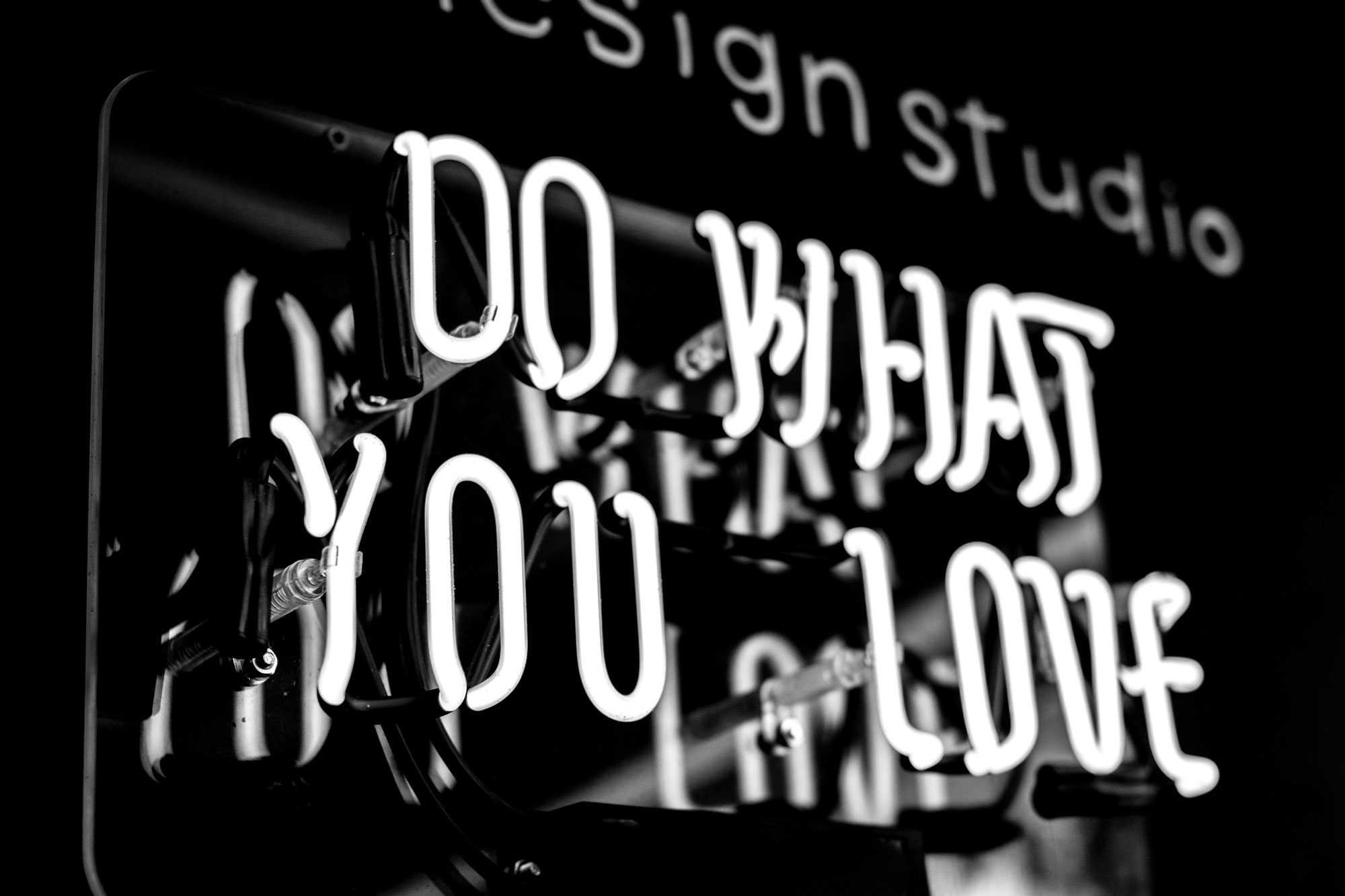 """photo of a billboard saying """"Do What You Love"""""""