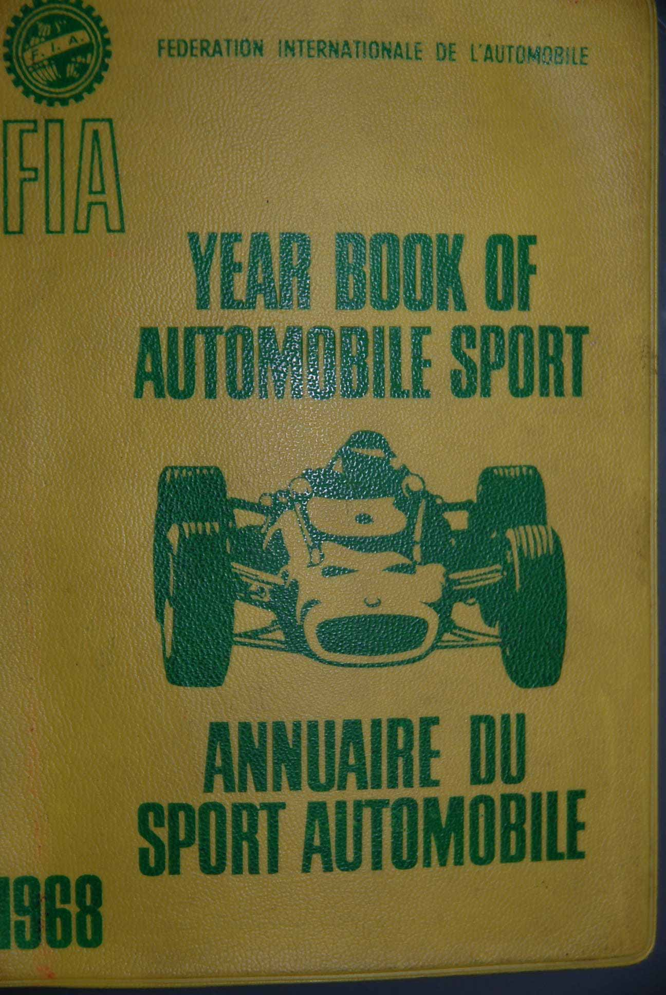 Signed FIA Year Book 1968