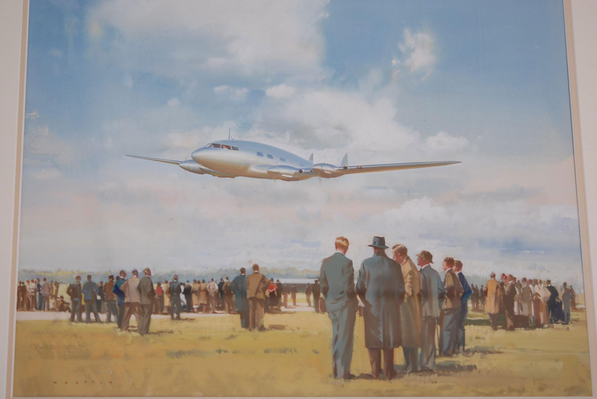 Gouach on board by Frank Wootton